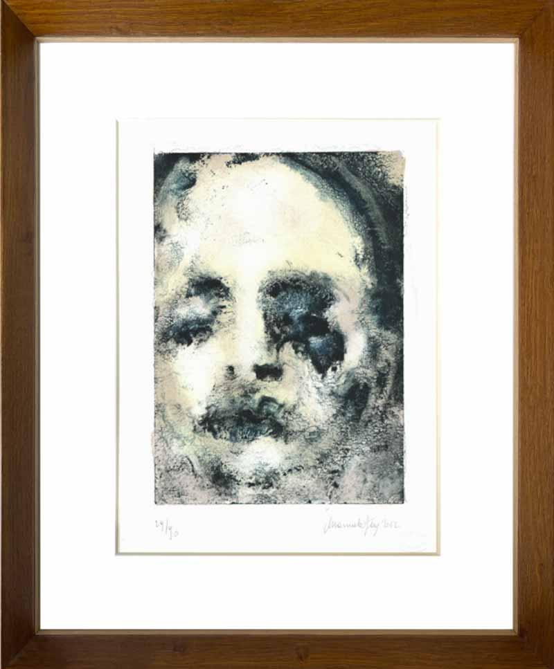 indrammet litografi af Manuella Ferre