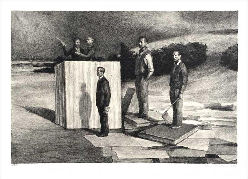 Lithograph by Peter Martensen