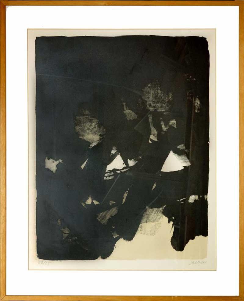 soulages lithograph