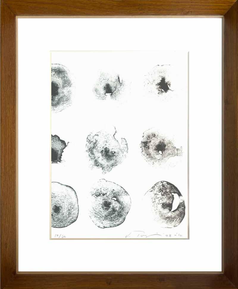 indrammet litografi af Vibeke Tøjner